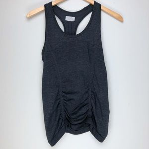 Athleta Ruched Tank Charcoal